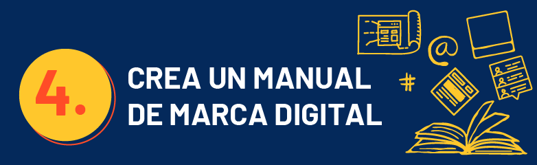 Crea un manual de marca digital
